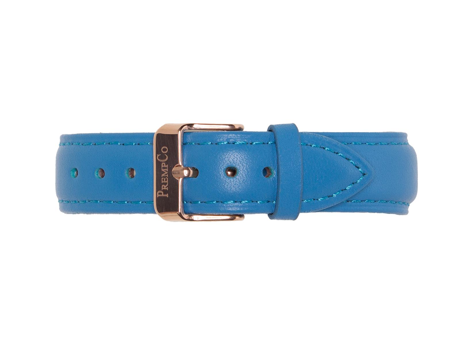 Blaues Schnellwechselband PrempCo Leder Uhrenband Uhrenarmband Schnellwechseluhrenband schnellwechseluhrenarmband