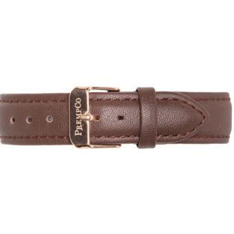 Braunes Schnellwechselband PrempCo Leder Uhrenband Uhrenarmband Schnellwechseluhrenband schnellwechseluhrenarmband