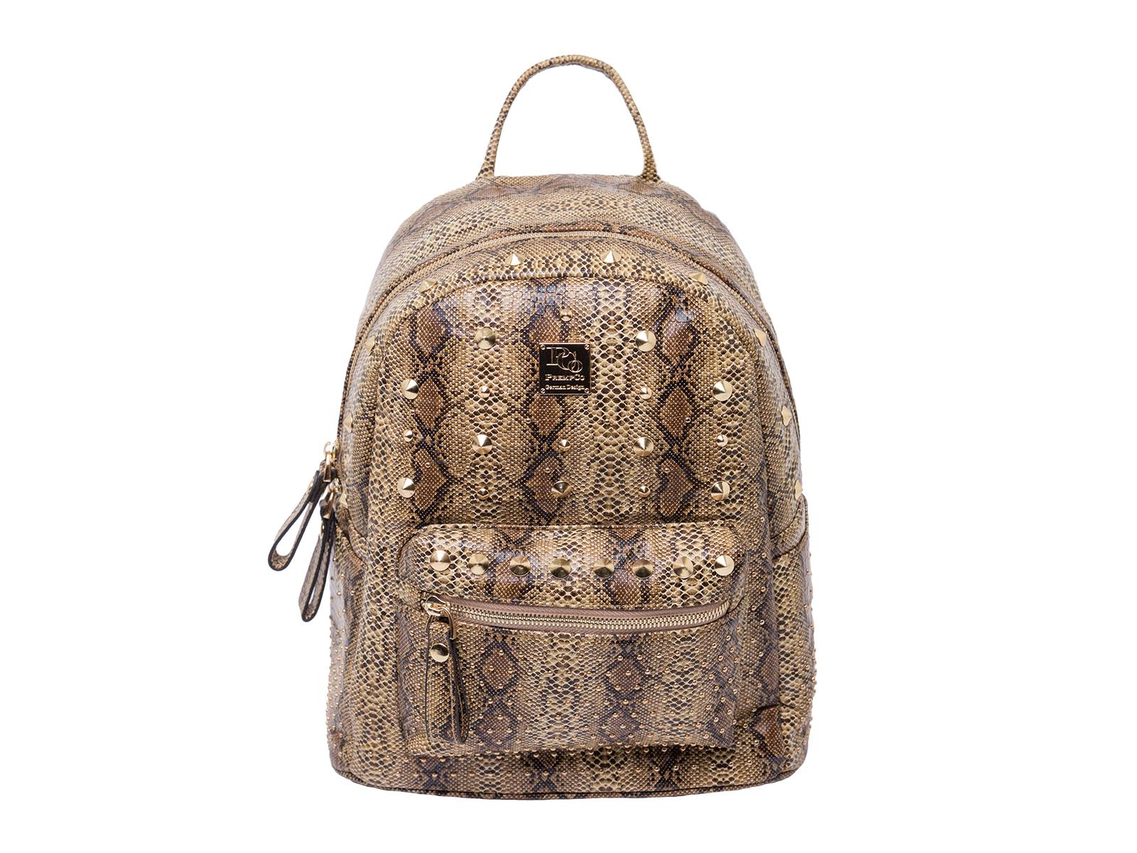 PCo Viper damen rucksack braun Designer Rucksack Luxus