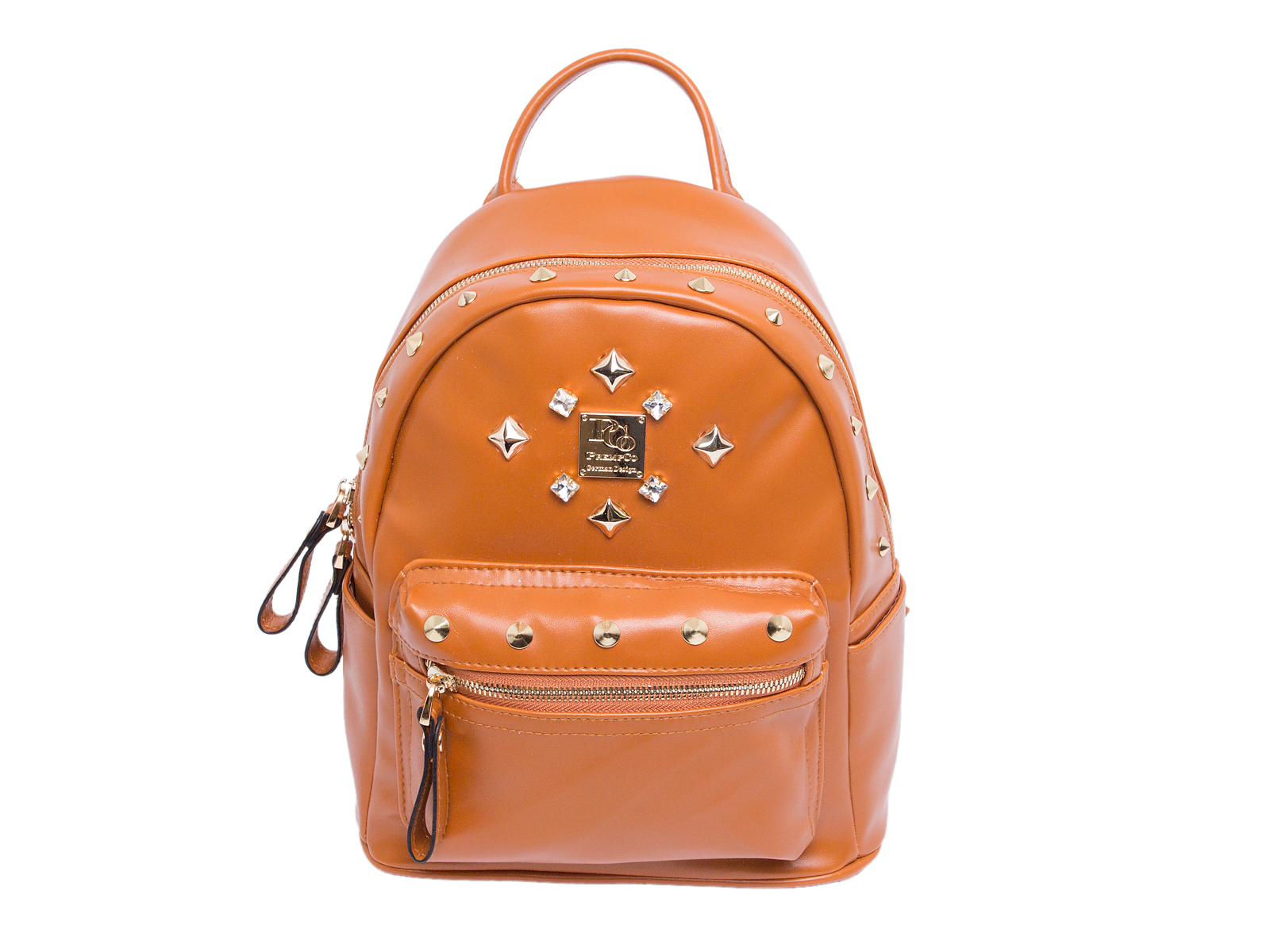 PCo mini damen rucksack Braun Designer Rucksack Luxus