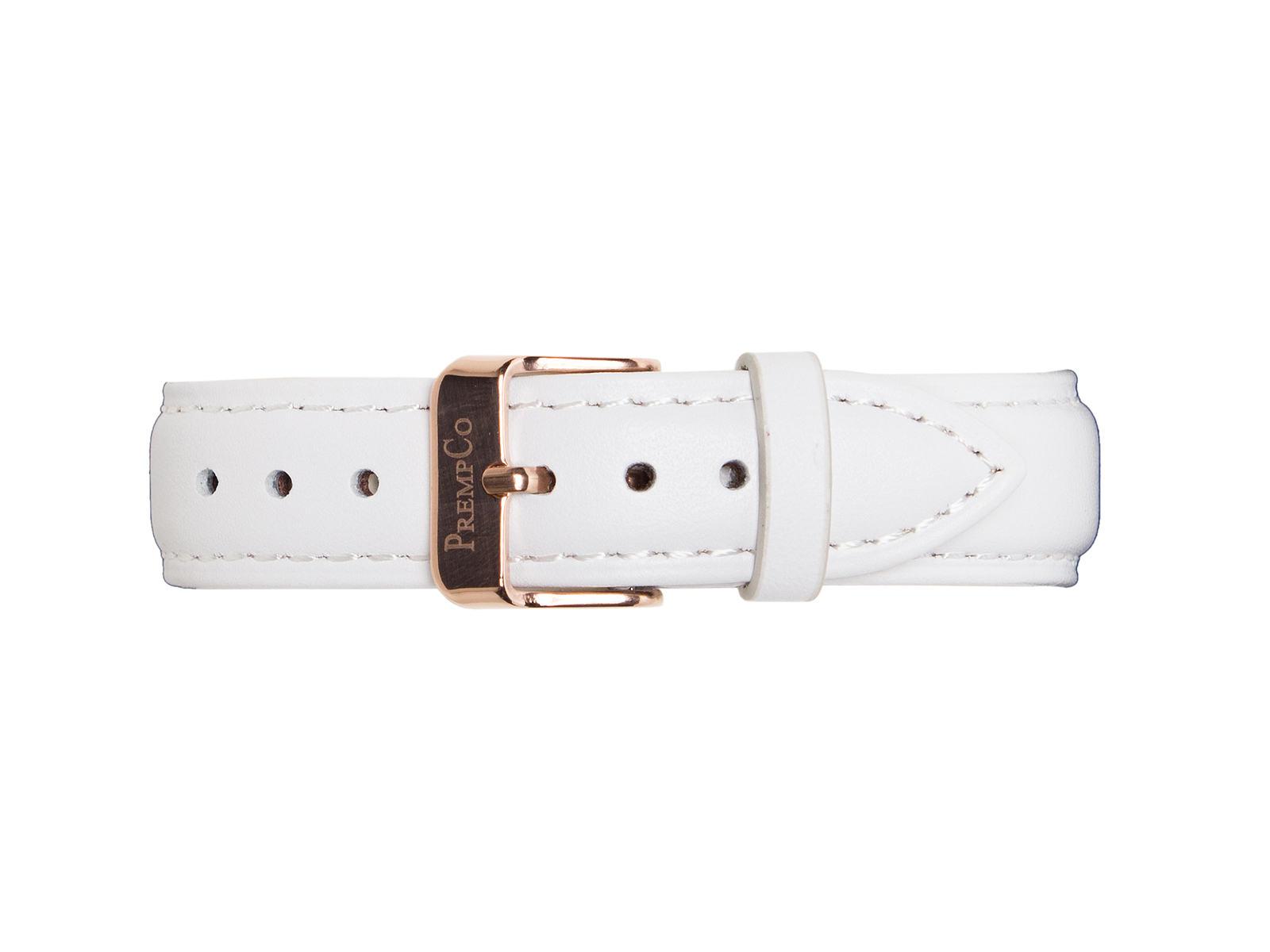 Weißes Schnellwechselband PrempCo Leder Uhrenband Uhrenarmband Schnellwechseluhrenband schnellwechseluhrenarmband