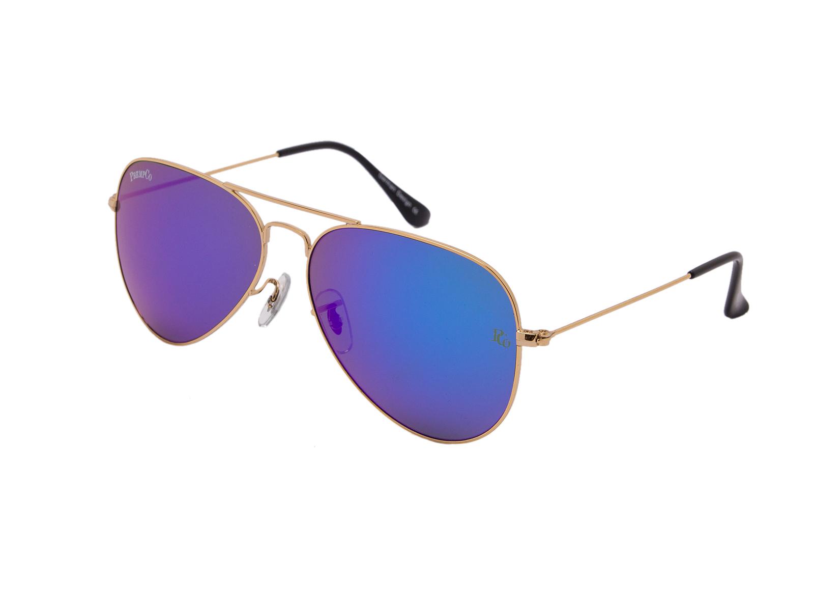 prempco aviator Damen sonnenbrille silber mirror silber gestell (2)