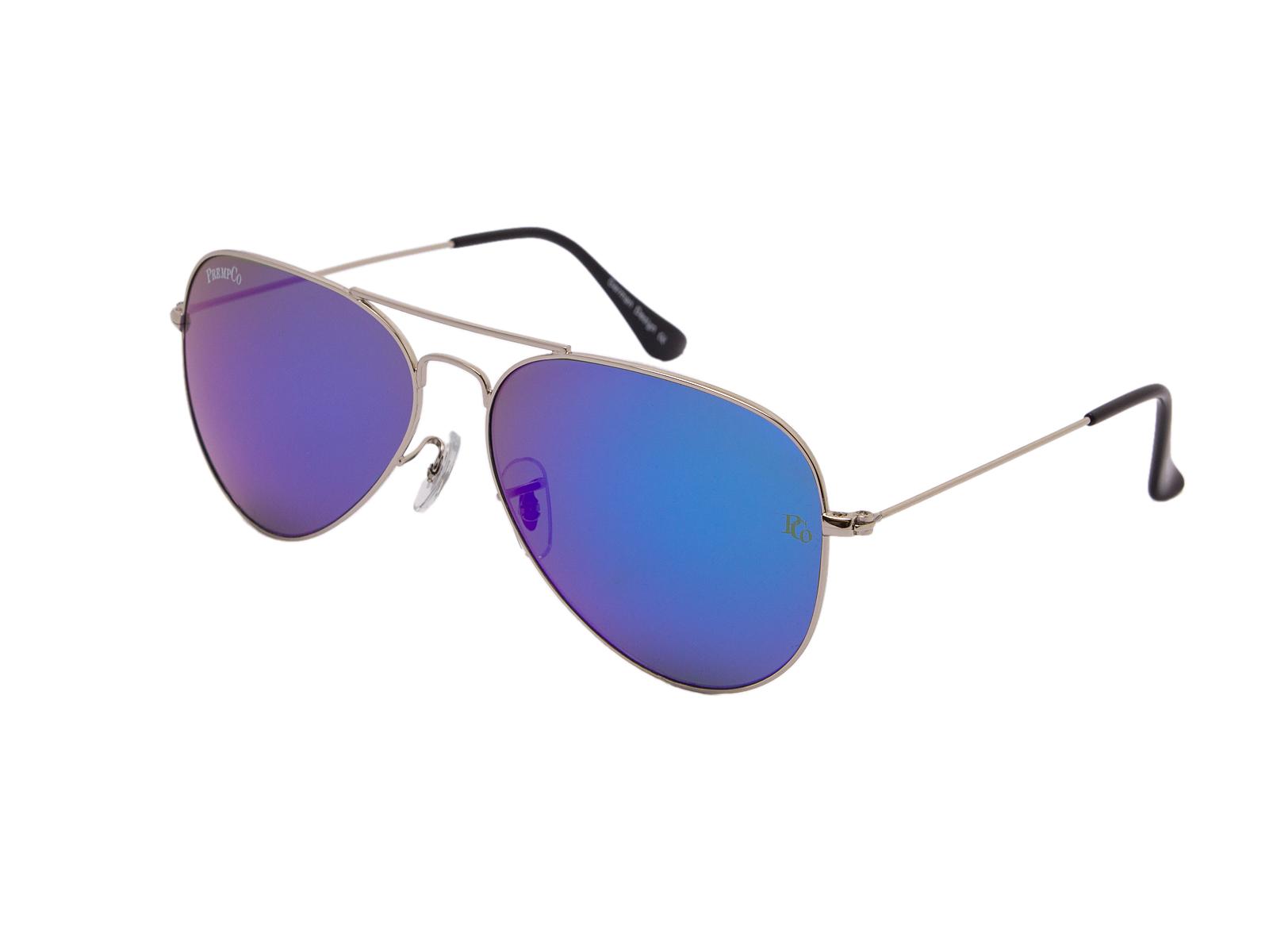 prempco aviator Damen sonnenbrille silber mirror silber gestell (4)