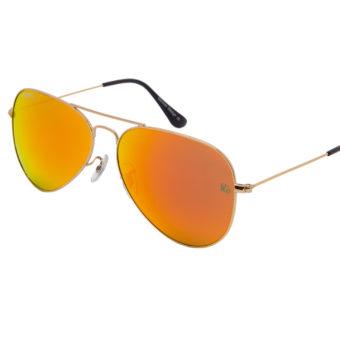prempco aviator Damen sonnenbrille silber mirror silber gestell (5)